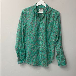 Anthropology holding horses green floral top.6